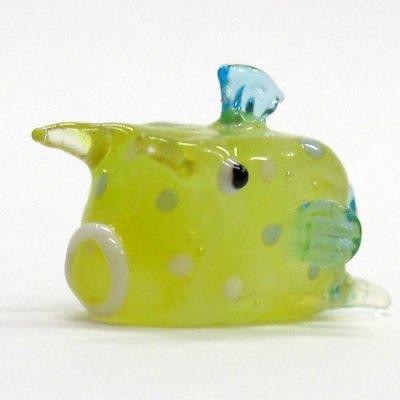 画像1: コンゴウフグ ガラス細工 雑貨 置物