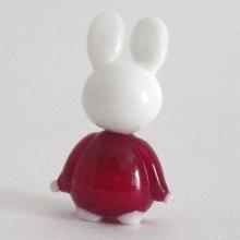 他の写真2: 卯うさぎのガラス細工 うさぎ人形 M レッド 干支 ガラス細工 雑貨 置物