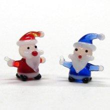 他の写真2: ミニミニサンタさん レッド クリスマス ガラス細工 雑貨 置物