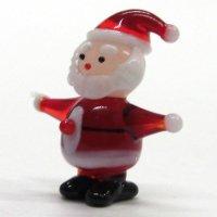 サンタクロース S クリスマス ガラス細工 雑貨 置物