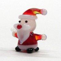 ミニミニサンタさん レッド クリスマス ガラス細工 雑貨 置物