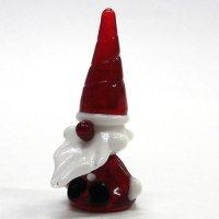お座りサンタさん L クリスマス ガラス細工 雑貨 置物