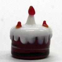 ケーキ クリスマス ガラス細工 雑貨 置物