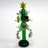 30%OFF クリスマスツリー 10.3cm(丸台) M 5P クリスマス ガラス細工 雑貨 置物