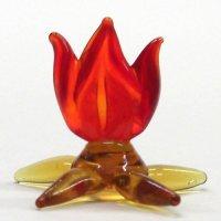 たき火 L クリスマス ガラス細工 雑貨 置物