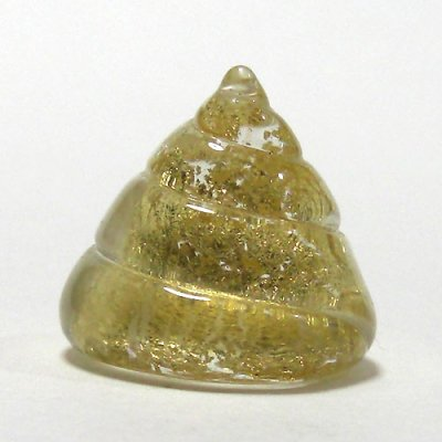 画像1: 金運智(うんち) L 縁起物 ガラス細工 雑貨 置物
