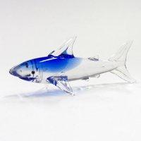 サメ ガラス細工 雑貨 置物