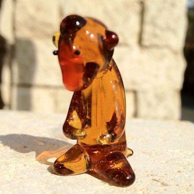 画像1: サル 干支 ガラス細工 雑貨 置物