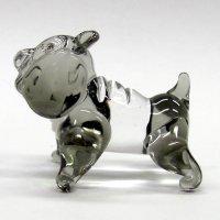 ブルドック 犬 ガラス細工 雑貨 置物