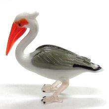 他の写真1: ペリカン L 鳥 ガラス細工 雑貨 置物