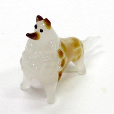 画像1: コリー 犬 ガラス細工 雑貨 置物