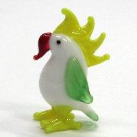 カンムリオウム L 鳥 ガラス細工 雑貨 置物