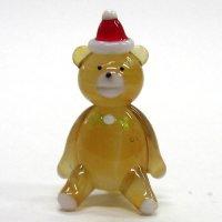 クリスマステディベア クリスマス ガラス細工 雑貨 置物