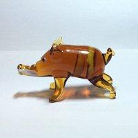 イノシシ(茶色) L 干支 ガラス細工 雑貨 置物