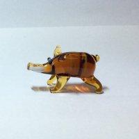 イノシシ(茶色) S 干支 ガラス細工 雑貨 置物