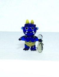 青オニ S ガラス細工 雑貨 置物