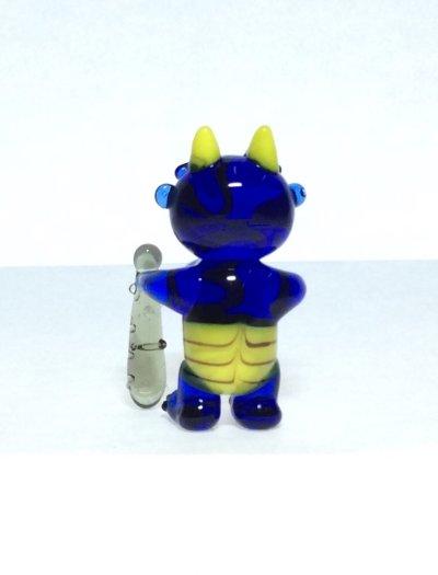 画像4: 青オニ L ガラス細工 雑貨 置物