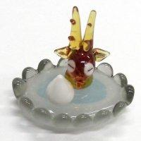 温泉シカ ガラス細工 雑貨 置物