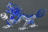 龍神様 L 青龍(クリア) ガラス細工 雑貨 置物