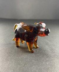 水牛 琥珀色 干支 ガラス細工 雑貨 置物