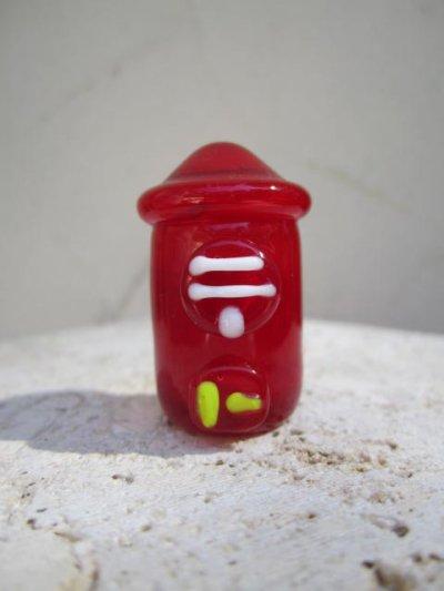 画像1: 懐かしの街並み 郵便ポスト レトロ ガラス細工 雑貨 置物