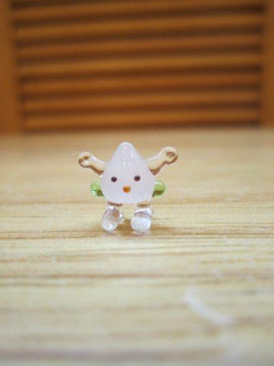 画像1: ミニミニ 桃ちゃん ガラス細工 雑貨 置物