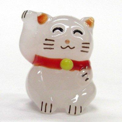 画像1: にっこり招き猫 ガラス細工 雑貨 置物