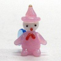 ミニミニ天使 ピンク メルヘン ガラス細工 雑貨 置物
