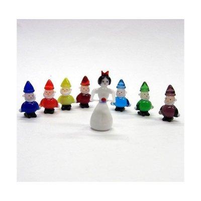 画像1: 白雪姫と7人の小人 メルヘン ガラス細工 雑貨 置物